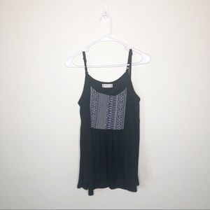 Altar'd State Black Strappy Sleeveless Tank Top